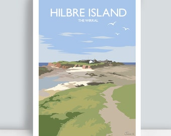 Hilbre Island, The Wirral. Art Print/Poster. PLUS FREE POSTAGE!