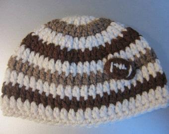 Striped Football Hat