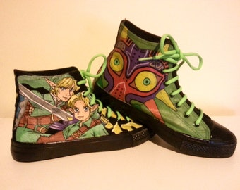 The Legend of Zelda Painted Canvas Converse