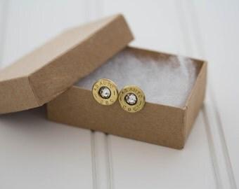 45 Auto CBC Earrings Clear Crystal