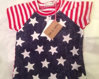 Stars and Stripes top baby shirt