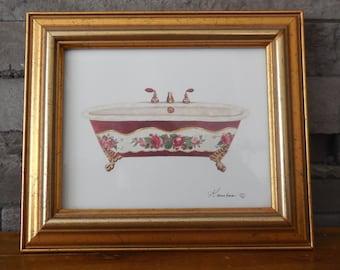 Pretty little frame for bathroom