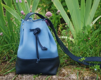 Bag purse in leather and handmade
