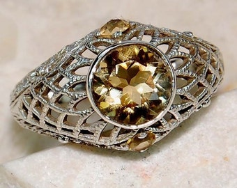 1.5 CT MAGNIFICENT CITRINE & Sterling Silver Ring!