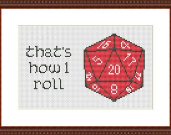 That's How I Roll  Funny Cross Stitch PDF Pattern This is How I Roll