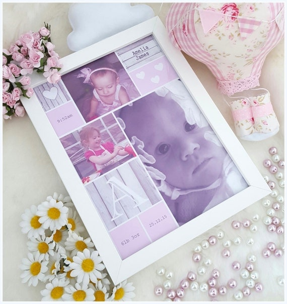 Baptism Gift Girl Christmas Ornament For Baby Girl Baptism: Personalized Pink Photo Frame, Newborn, Christening, First