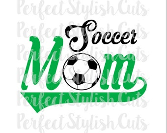 Soccer Mom SVG, DXF, EPS, png Files for Cutting Machines Cameo or Cricut - Soccer Ball svg, Sports svg, Soccer Mom Shirt svg