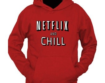 NETFLIX AND CHILL Red hoodie