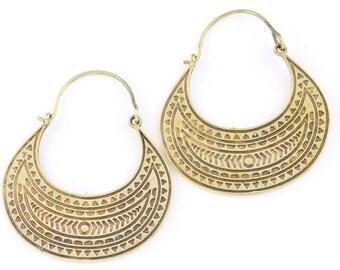 Eastern Goddess Earrings, Tribal Brass Earrings,  Festival Earrings, Gypsy Earrings, Ethnic Earrings