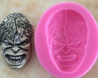 Hulk face silicone gumpaste fondant cake decorating mold mould
