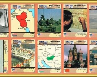 Operation Desert Storm Cards - 10 Pro-Set Cards