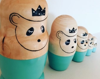 Royal Panda Matyroshka Doll