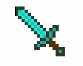 Pixel Sword Machine Embroidery Design
