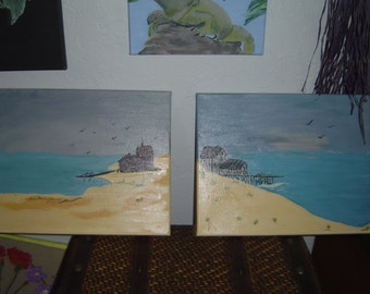 2pc beach scene