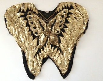 10% OFF Vintage Original Sequinned Butterfly Top