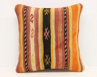 Decorative kilim pillow cover 14x14 inches Turkish kilim pillow cover Sofa Decor Ethnic pillow Ethnic pillow Square Pillows SOB-78