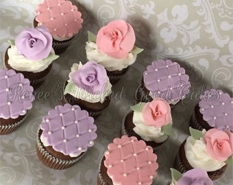 Pretty cupcake toppers