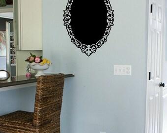 Chalkboard Oval Wall Decal - Chalkboard Decal - Wall Decor
