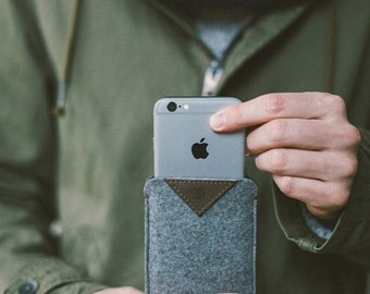 Iphone 6s Felt Case. Classic Iphone 6s Case. Felt Sleeve