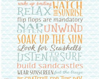 Beach House Rules sign svg Nautical svg Ocean Life svg Coastal Living svg Sea Vacation svg dxf eps jpg files for Cricut Silhouette