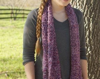 Super soft plum knit scarf