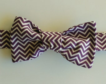 Bow tie to a single wing with bordeaux wavy lines