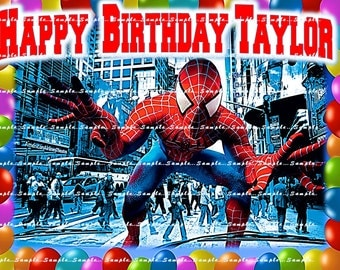 SPIDERMAN: Personalized Edible Image Cake Toppers