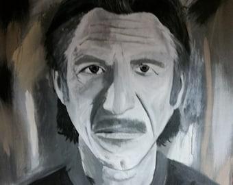 Acrylic Painting of Sean Penn