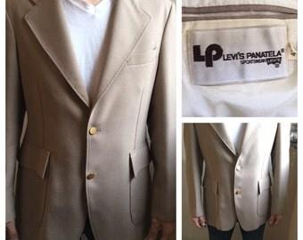 Vintage Levis Panatela Mens Blazer 70s | RARE LEVIS - Limited Label Lifespan | TRUE Vintage Levis Mens Sport Coat | Country Western Coat