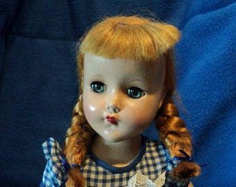 Nanette by Arranbee 14 inch hard plastic doll in excellent condition