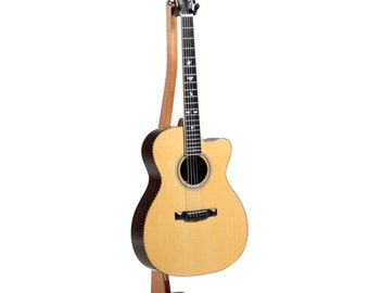 Wooden Guitar Stand Okoume - solid wood for acoustic or electric guitars.