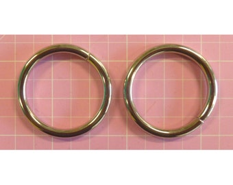 O Ring wire formed  1 in  / 25 mm Nickel