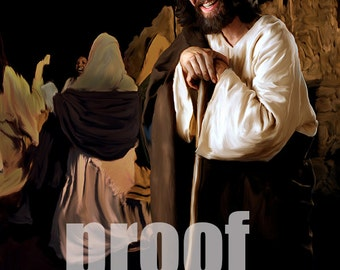 Jesus at a wedding, vertical