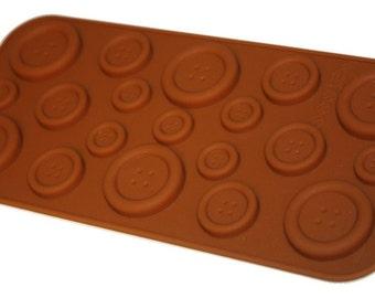 Taavi Button Silicone Mold (Candy, Chocolate, Finger Jello) (T-103)