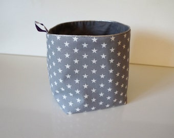 Reversible fabric basket size L