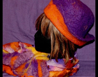 all hat and felted scarf