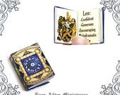 Antique Zodiac Dollhouse Miniature Book – 12th Scale OPENABLE and READABLE Zodiac Sign & Personality Miniature Book - Printable DOWNLOAD