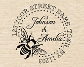 Custom Self Inking or Mounted handle Address Stamp,custom address stamp,Home Sweet Home,Personalized Address Rubber Stamp,Mean to bee - AA49