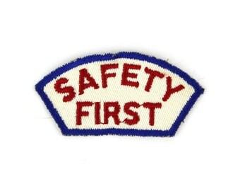 Safety First Vintage Patch