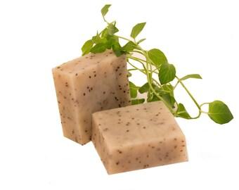 Chia seeds pure luxury exfoliating soap.