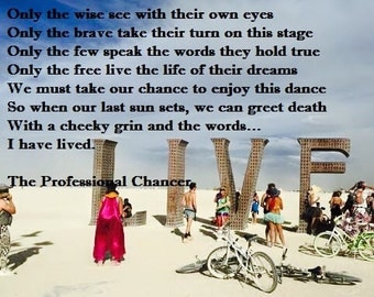 Burning Man Art - 'I have lived'