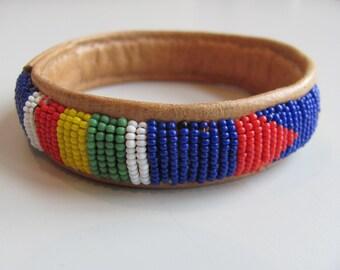 Beaded Leather Bracelet