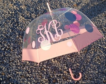 Monogrammed Dome Umbrella
