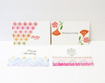 Postcard Stationary Set, Boho Themed Snail Mail, Any Occasion Card Set, Card Gift Set