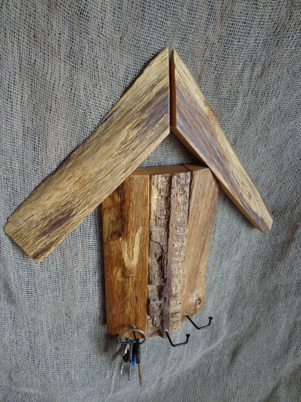 wall key holder rustic key holder wooden key holder oak. Black Bedroom Furniture Sets. Home Design Ideas