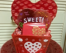 Valentine's Day. Beautifully hand-crafted gift basket