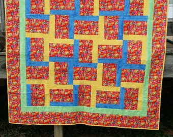 Bright and Cheery Cat Quilt