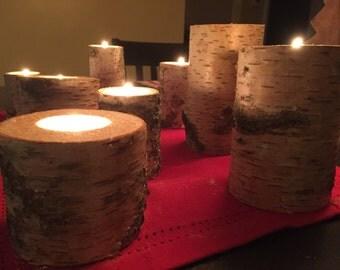 Birch Tealight Votives Candles
