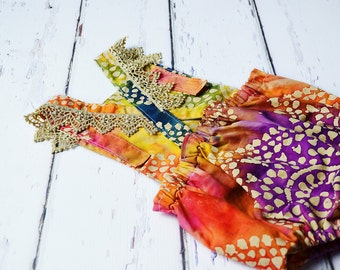 Girls Multi Color Designer Tie-Dye Boho Romper, Toddler Romper, Baby Romper, Sunsuit, playsuit,summer