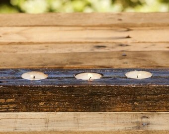 Reclaimed Wood Tea Light Holder